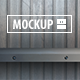12 Shelf Mockups Set